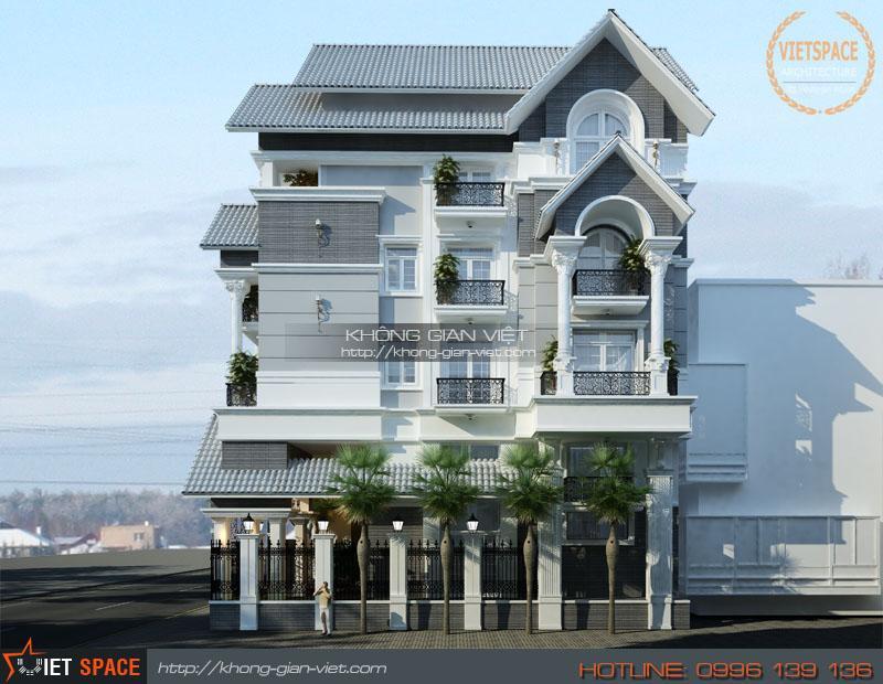 Thiết kế Biệt thự kiểu Pháp – Nhà A Lâm – Rạch Giá