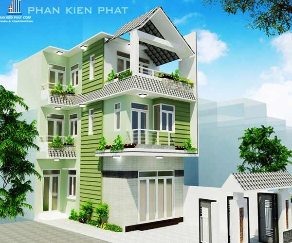 Công trình nhà phố 5 tầng DTXD 4 x 15m